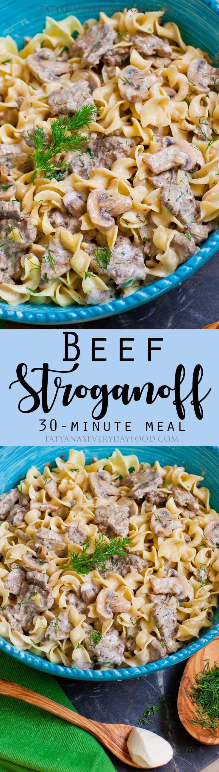 Quick & Easy Beef Stroganoff Recipe with video
