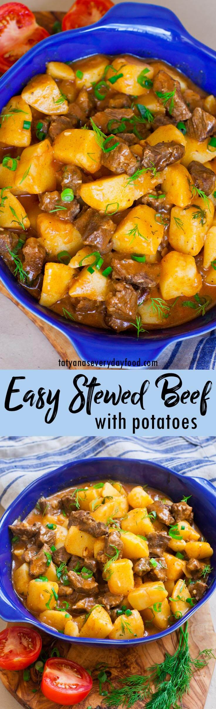 Easy Stewed Beef & Potatoes video recipe