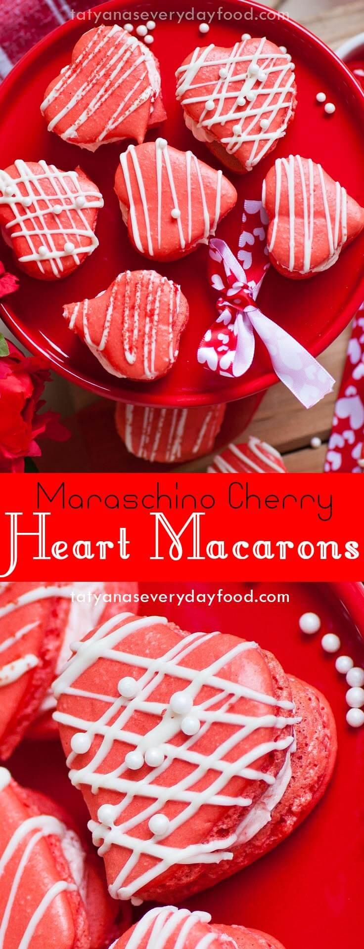 Maraschino Cherry Heart Macarons video recipe