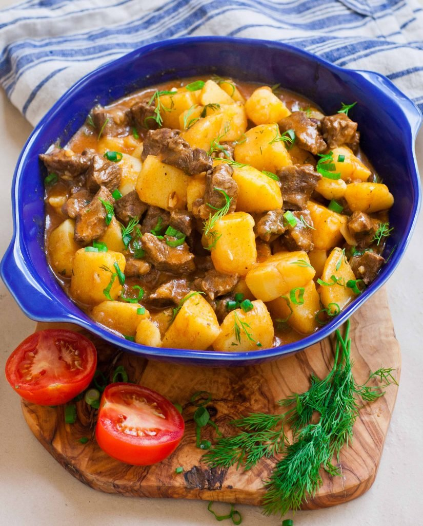 ukrainian stewed beef with potatoes