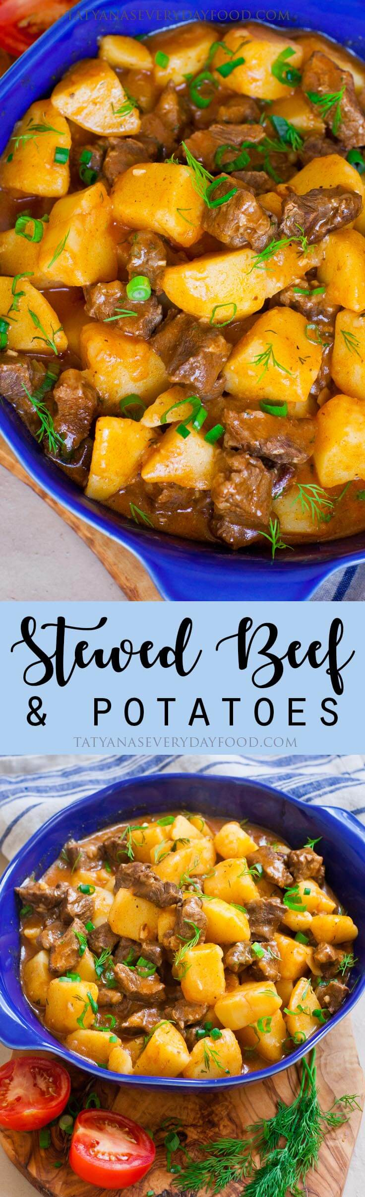 Easy Stewed Beef & Potatoes Recipe with video