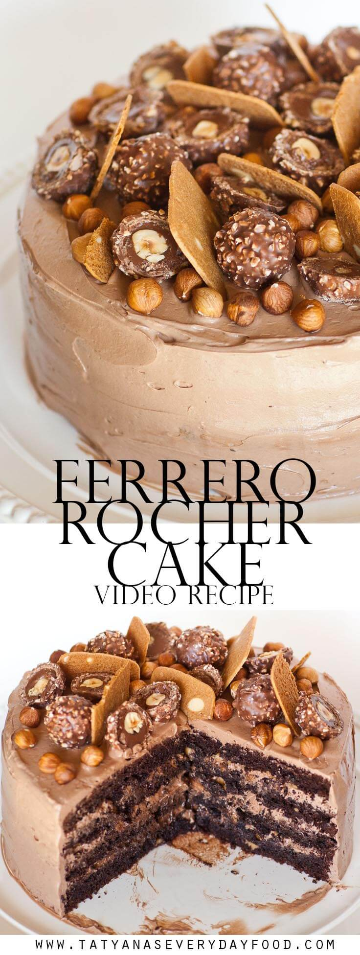 The Best Ferrero Rocher Cake recipe with video