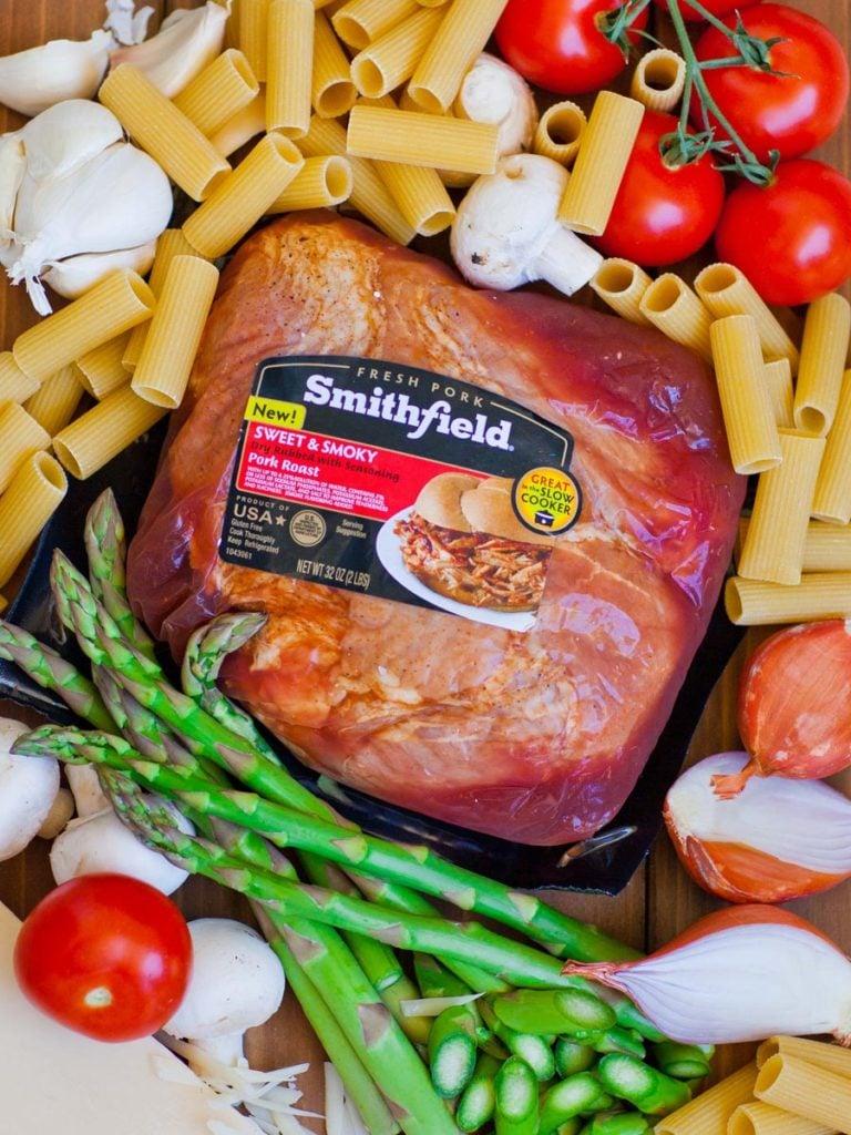 Smithfield pork roast in packaging
