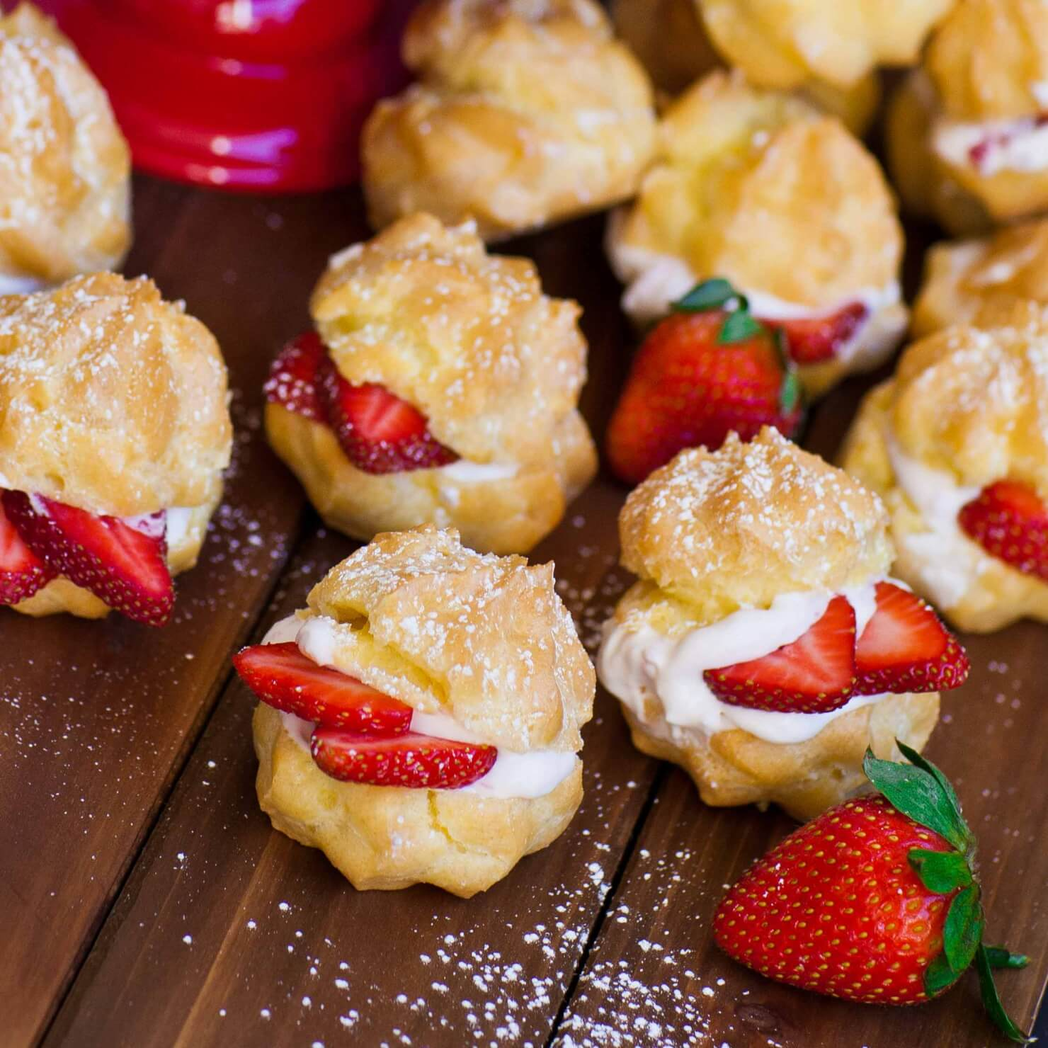 Strawberry Cream Puffs - Tatyanas Everyday Food