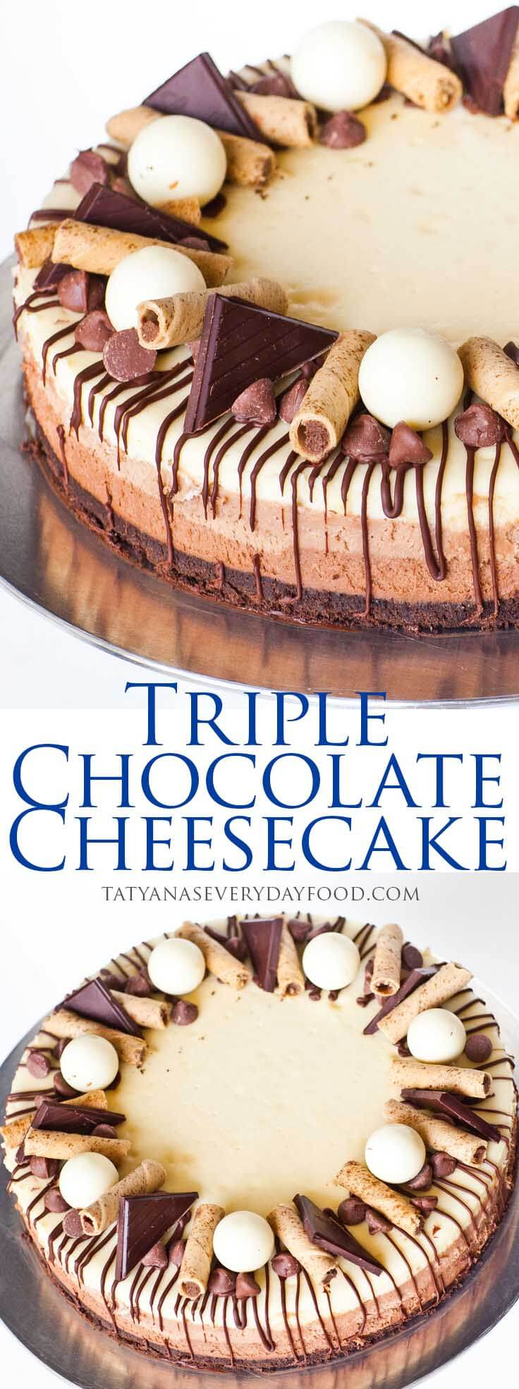 Triple Chocolate Cheesecake Tatyanas Everyday Food