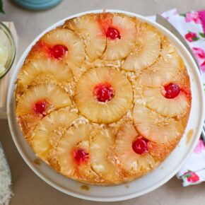 upside down coconut pineapple cake