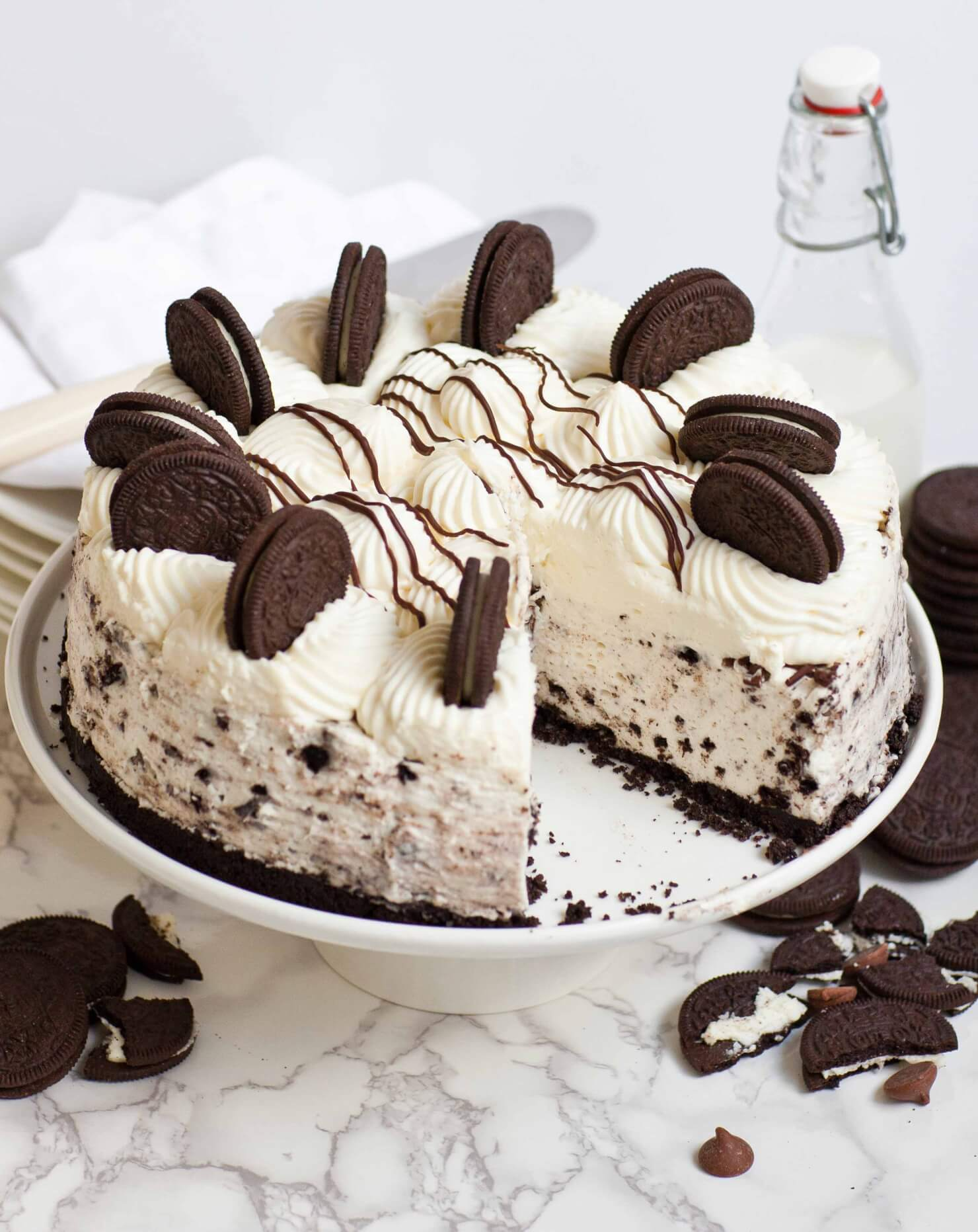 oreo cheesecake Perfect for the kids to help with or to make on a night when the oven is tied up print recipe email recipe oreo no-bake cheesecake recipe.