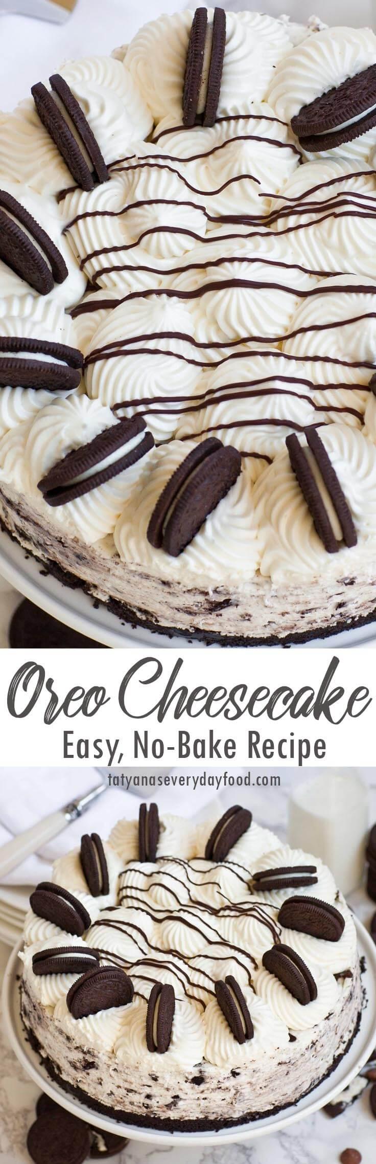 No Bake Oreo Cheesecake video recipe