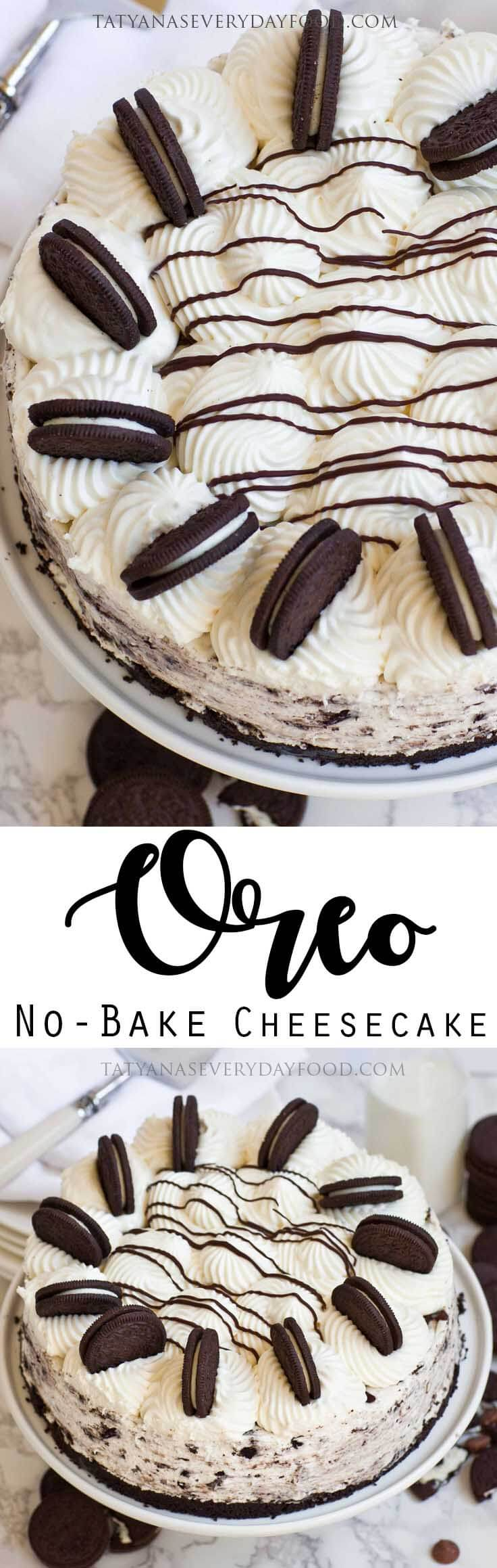 No-Bake Oreo Cheesecake Recipe with video