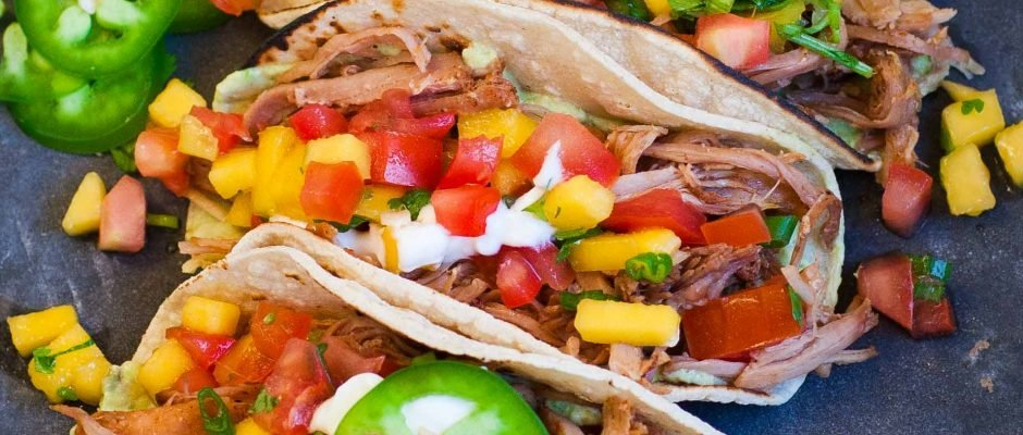 Pork Carnitas Tacos with Mango Salsa