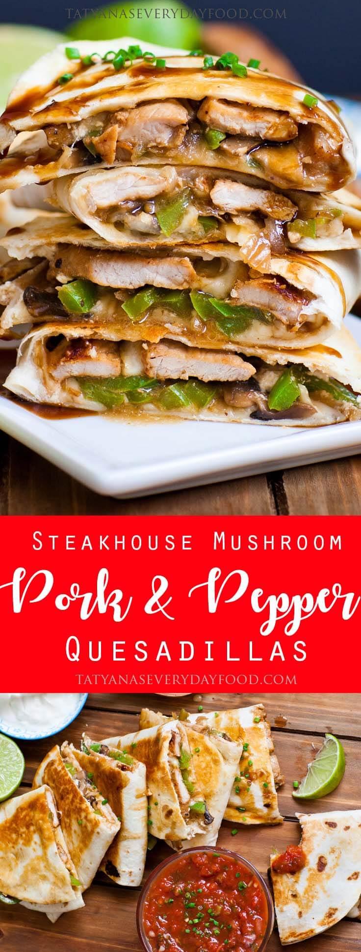 Pork and Pepper Quesadillas photo