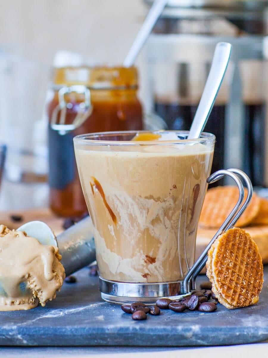 salted caramel affogato italian dessert recipe