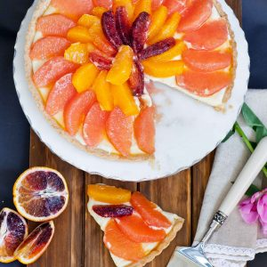 grapefruit citrus tart