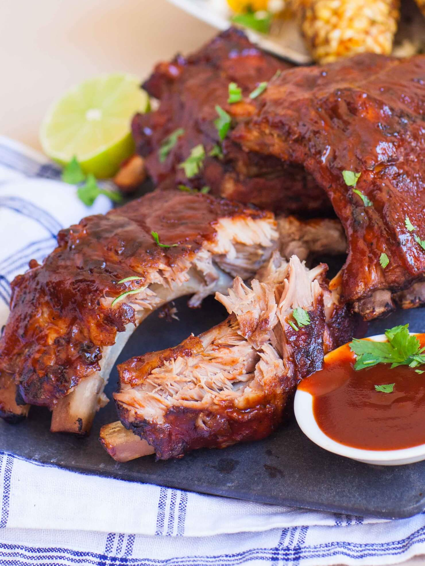 bbq pork ribs with grilled corn tatyanas everyday food