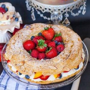 berry pari brest with fruit