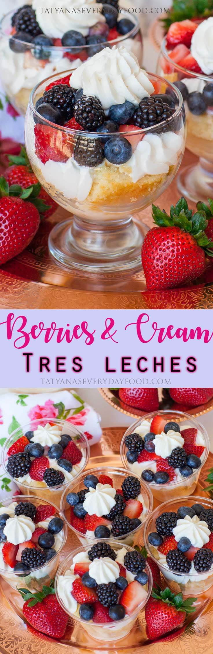 Berries & Cream Tres Leches Cake Parfait video recipe