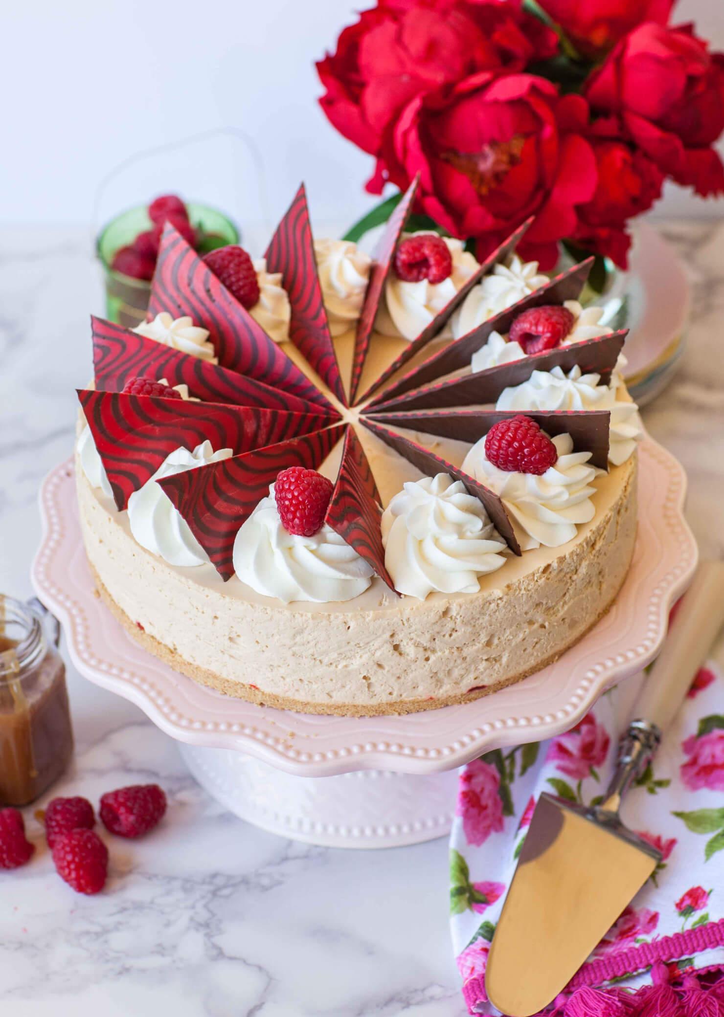 Caramel Raspberry Mousse Cake Tatyanas Everyday Food