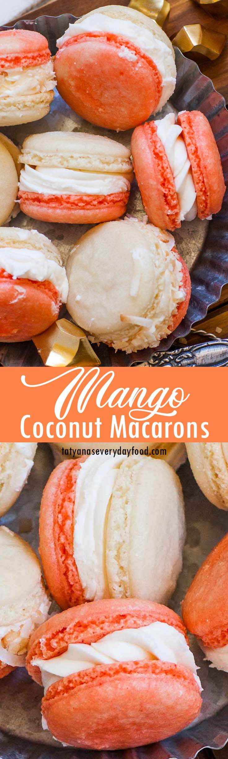Coconut Mango Macarons video recipe 2