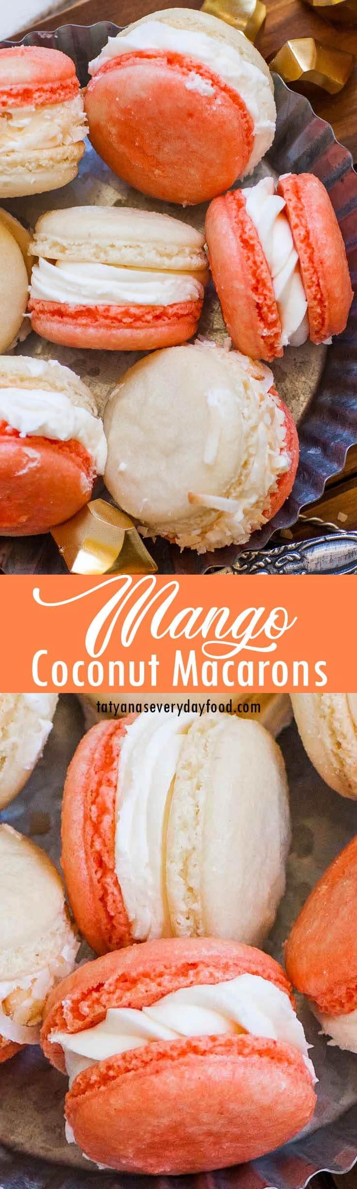 Coconut Mango Macarons video recipe 2