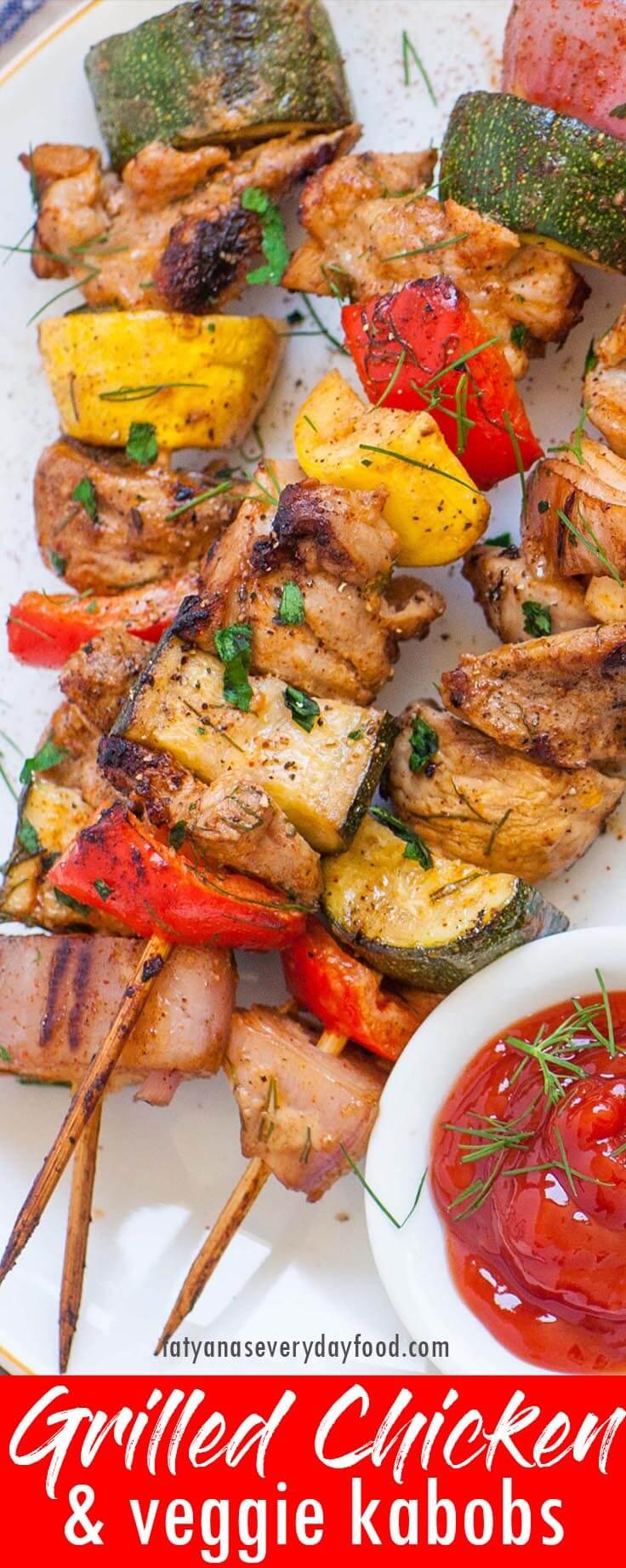Grilled Chicken & Veggie Kabobs video recipe