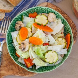 cabbage, carrot and zucchini salad