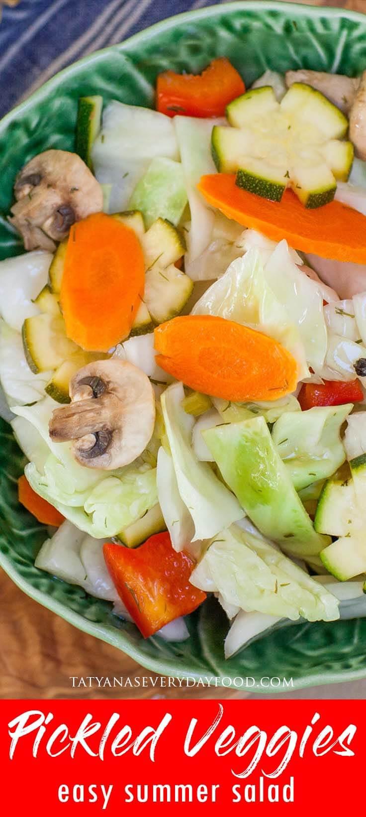 Pickled Veggies & Cabbage Salad Recipe