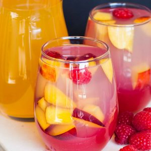 raspberry peach jello cups