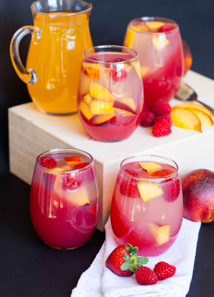 mango peach jello parfaits