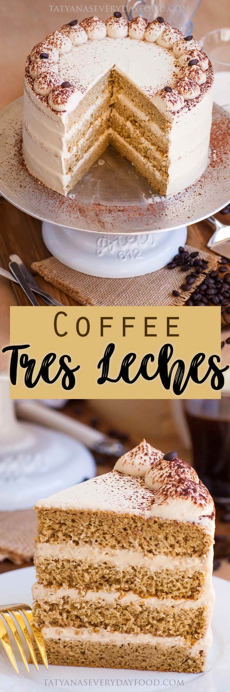 Coffee Tres Leches Cake Recipe with video