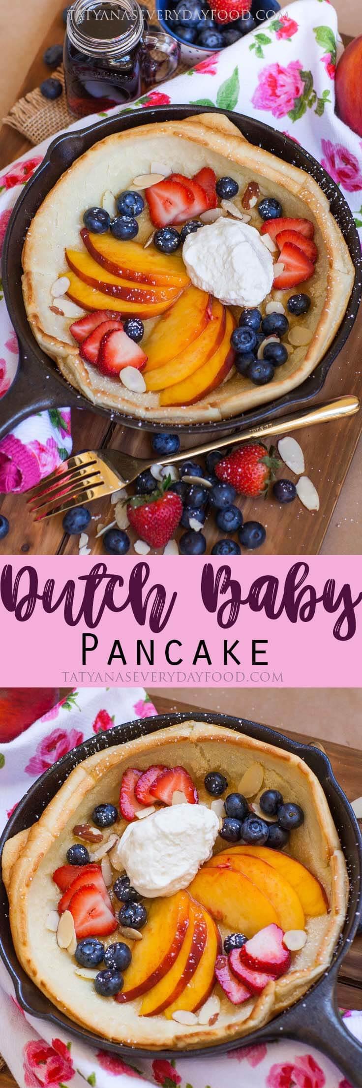 Easy Dutch Baby Pancake Recipe for breakfast