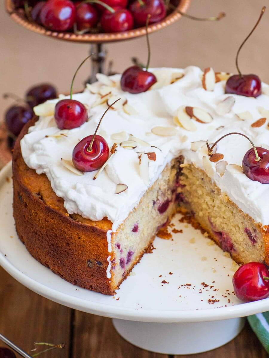 Easy Honey Cherry Cake Recipe (video)