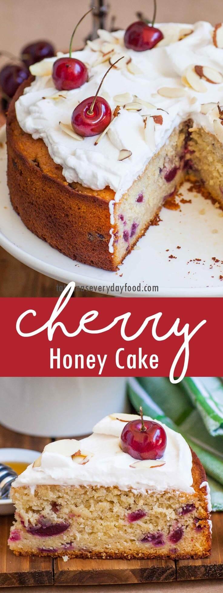 Easy Honey Cherry Cake video recipe
