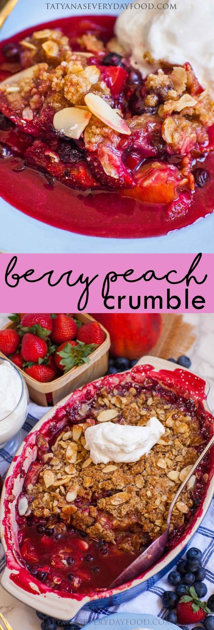 Berry Peach Crumble recipe