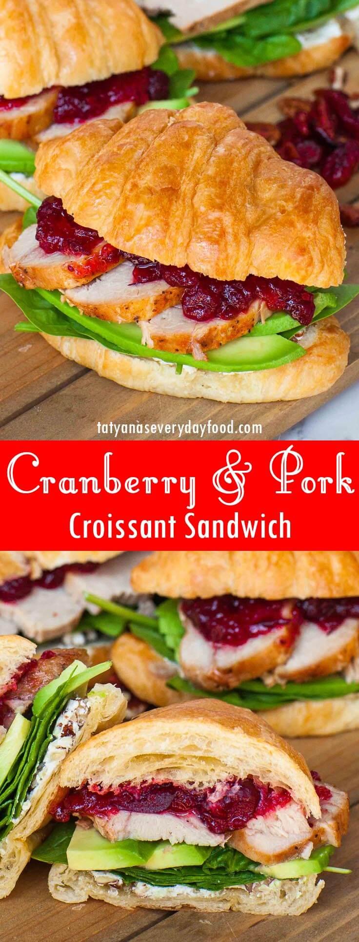 Cranberry Pork Croissant Sandwich recipe