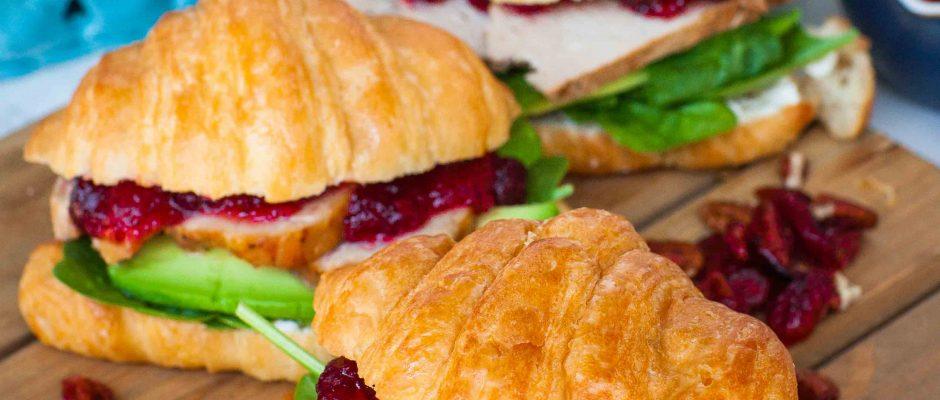 Slow Roasted Golden Rotisserie Pork Sirloin & Cranberry Sandwich