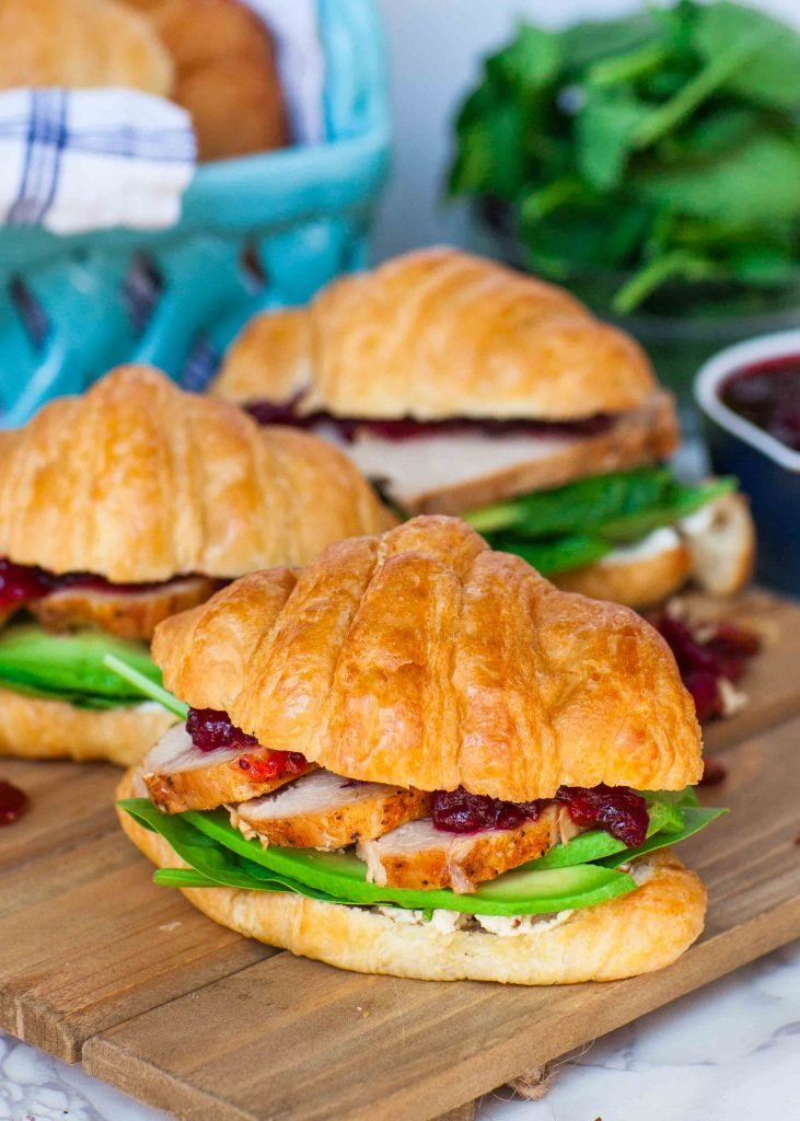 croissant sandwiches with avocado