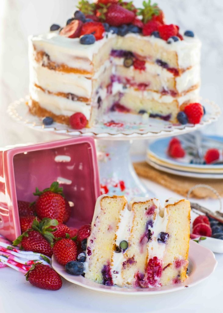 Strawberry Cake With Jam Filling