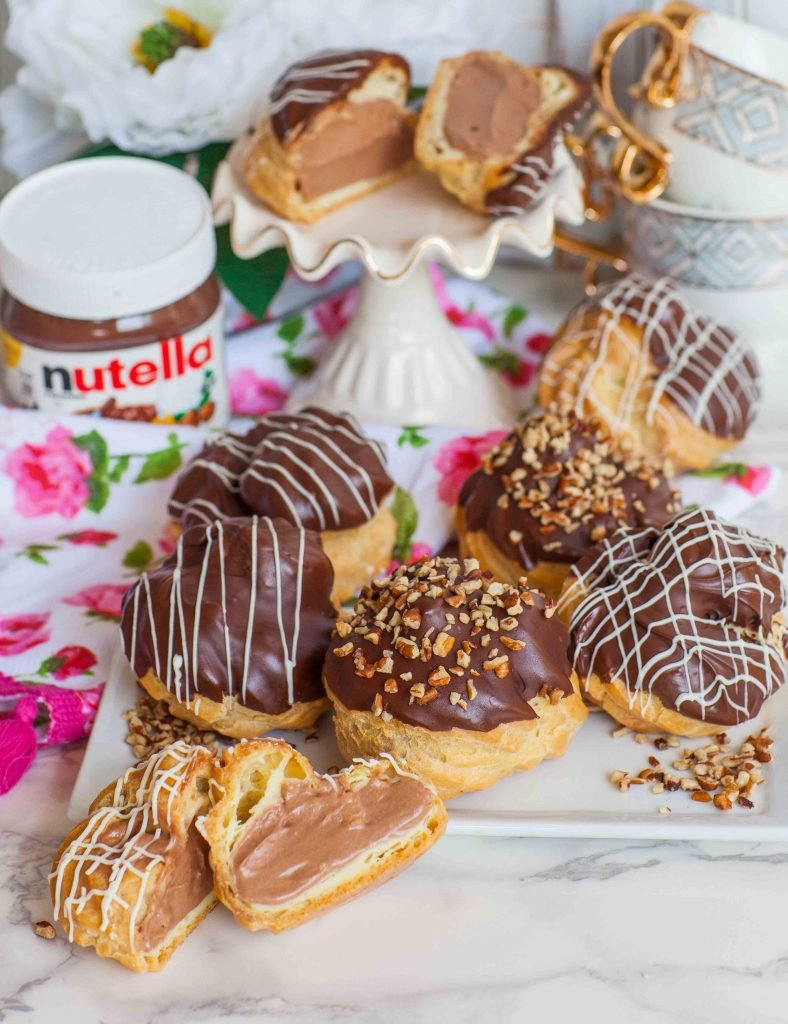 nutella filled chocolate French pastries