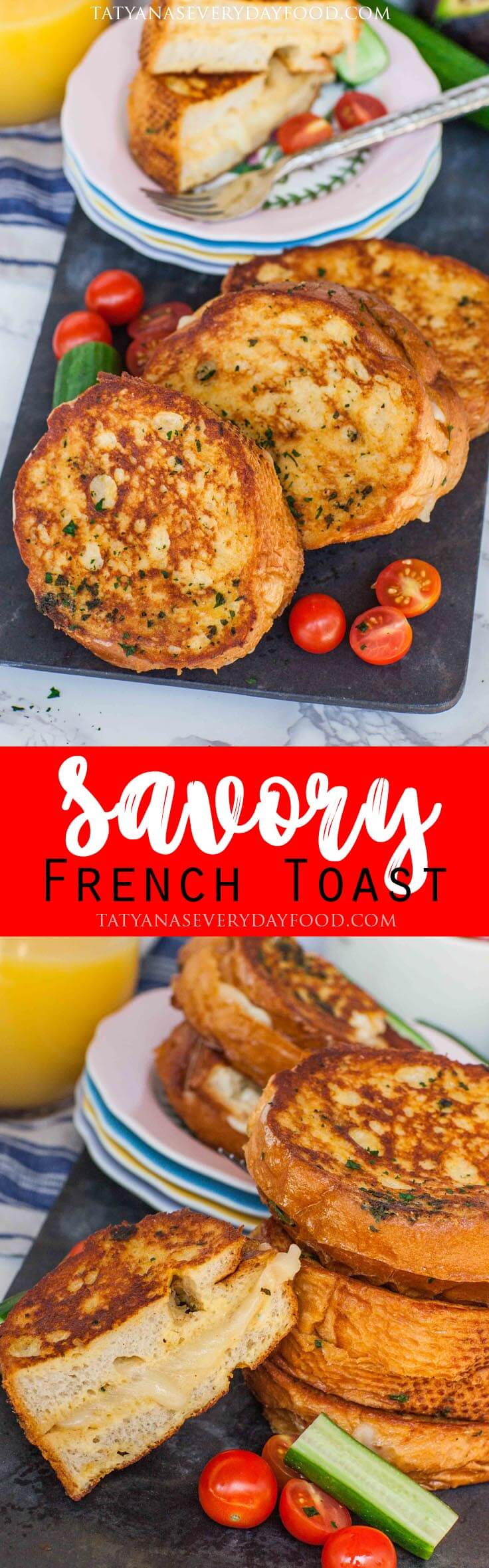 Savory French Toast with cheese