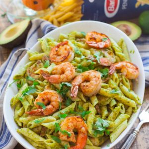 seafood pasta recipe with shrimp and chimichurri sauce