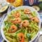 Avocado Chimichurri Shrimp Pasta