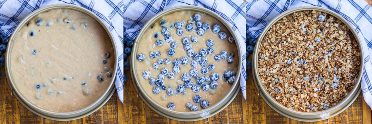 blueberry cake method photos