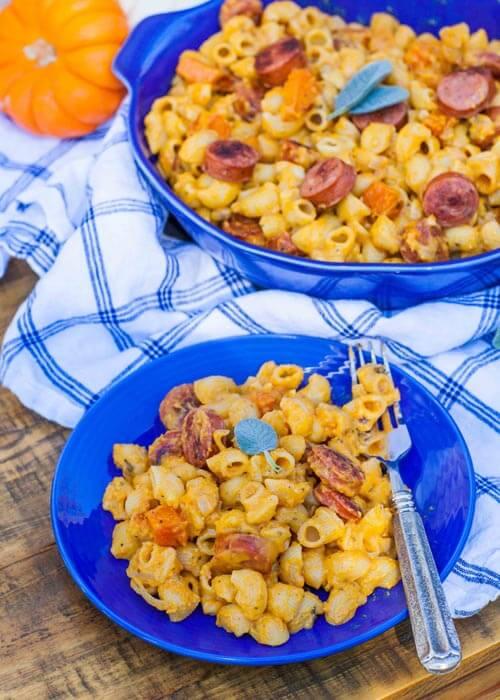 smoky sausage and butternut pasta recipe