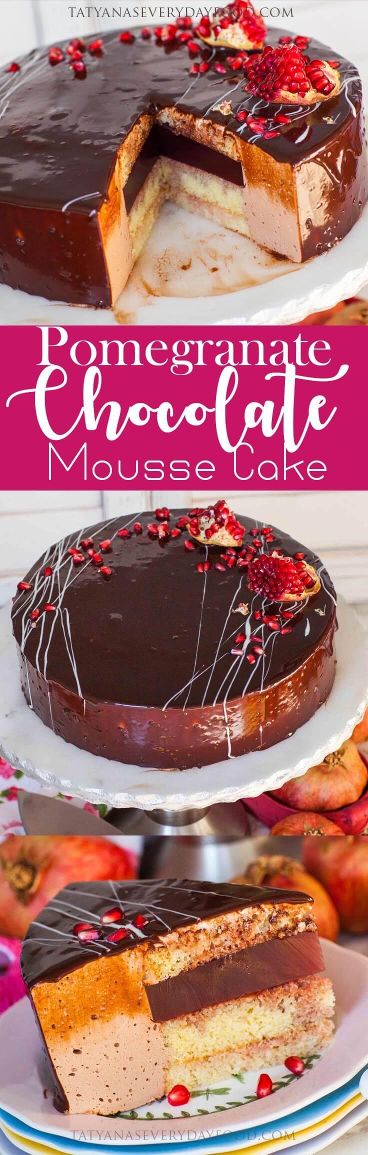Pomegranate Chocolate Mousse Cake Tatyanas Everyday Food