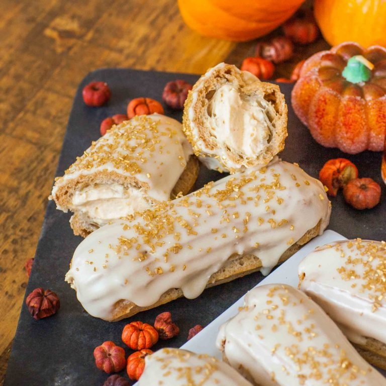 maple eclairs recipe with pumpkin filling