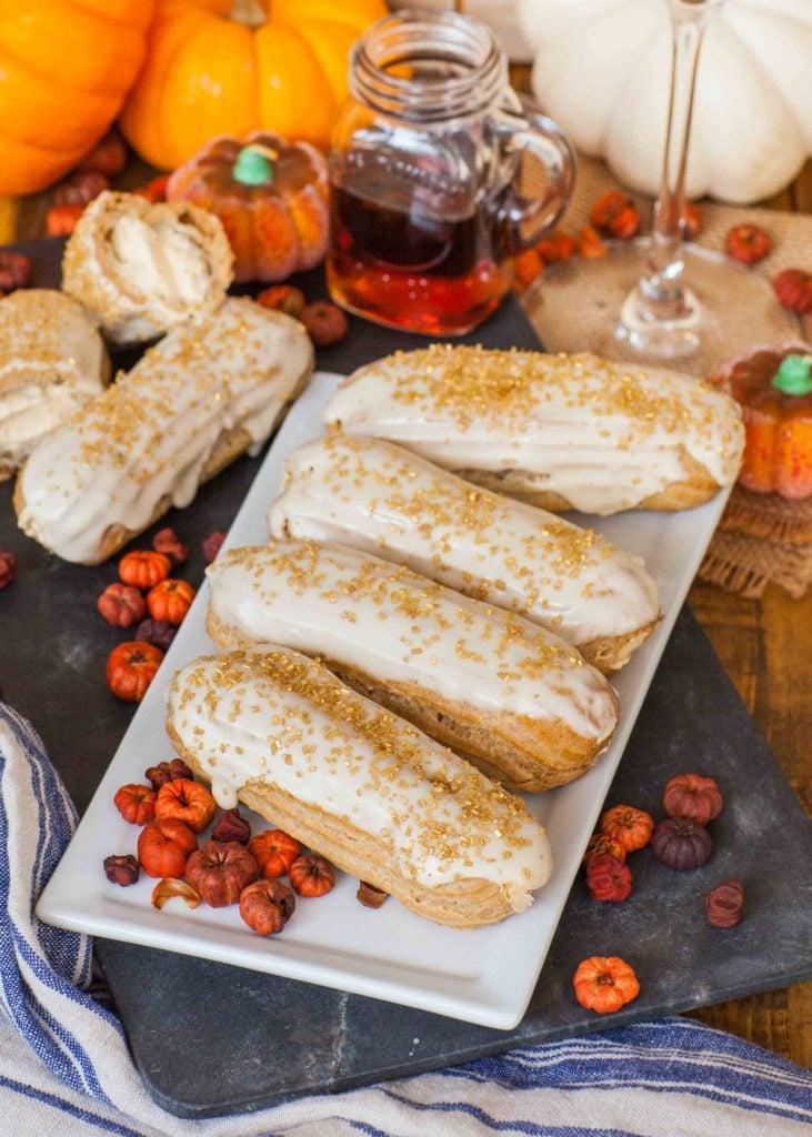 pumpkin maple eclairs