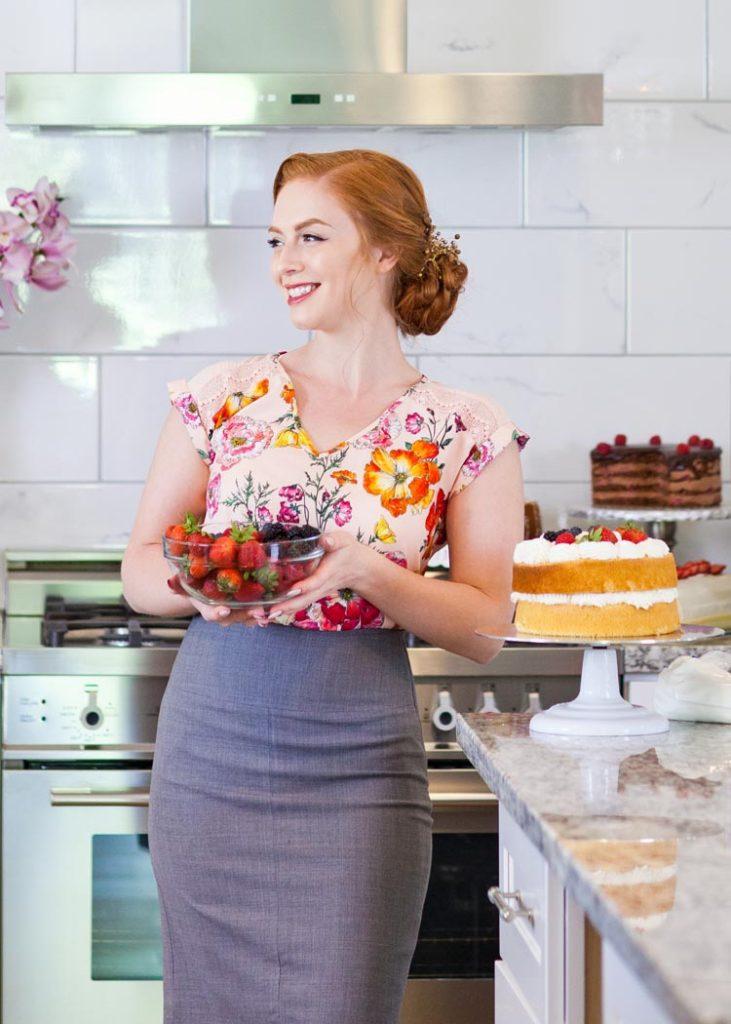 Tatyana Nesteruk with berries