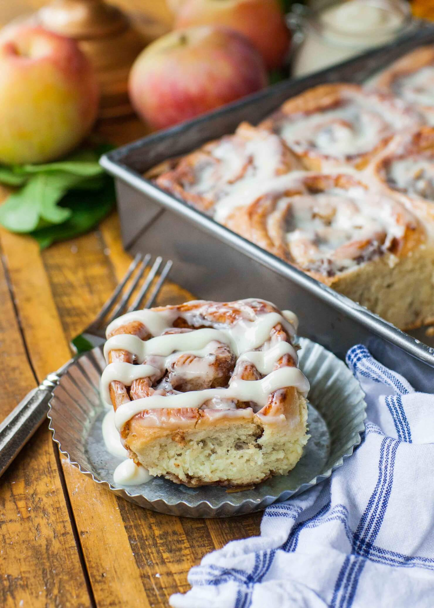 Apple Pie Rolls With Cream Cheese Frosting