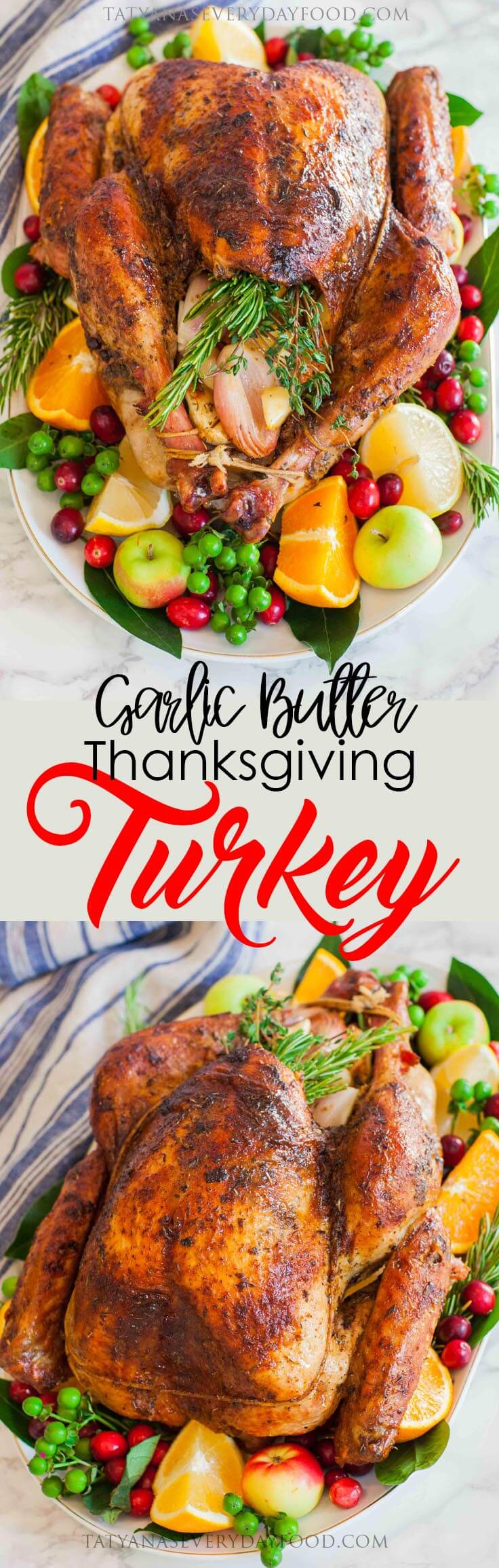Garlic butter thanksgiving turkey with gravy tatyanas everyday food try my kale pomegranate salad httpstatyanaseverydayfoodrecipe itemskale pom salad forumfinder Images