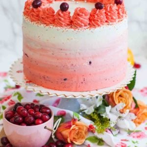 ombre cranberry cake